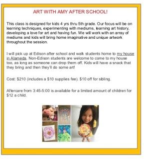 Afterschool Art Ad